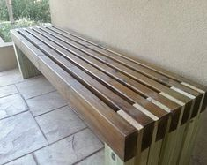 Ana White Build a Modern Slat Top Outdoor Wood Bench Free and Easy DIY Project and Furniture Plans Diy Outdoor Furniture, Furniture Projects, Furniture Plans, Garden Furniture, Wood Furniture, Home Projects, Antique Furniture, Modern Furniture, Cheap Furniture
