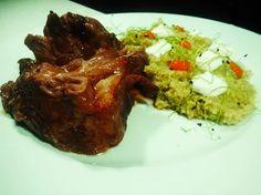 Must try at #ElakatiKitchenBar!  Αργοψημένο Αρνίσιο Μπούτι με αρωματικό πληγούρι και πέστο μαϊντανού | Slow Cooked Leg οf Lamb with flavored groats and  parsley pesto!  #gastronomia #creativecuisine #elakatales #greekgastronomia  Για κρατήσεις: 2241070688 #Rhodes!  Με την υπογραφή του executive #Chef Kimon Ligdas και την ομάδα του!