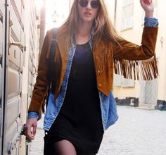 ways to wear brown suede fringe jacket - Google Search