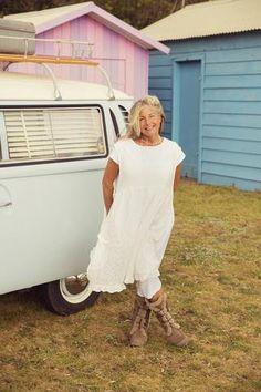 Lace Gypsy Pretty Pinafore, $129 AUD.  Floaty & flowy ruffled pinnie with pockets.