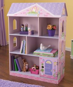 With the Kidkraft Dollhouse Bookcase with Flip Top storage has never been such fun! With 6 different spaces for storing books and other treasures, the Kidkraft Dollhouse Bookcase looks just like a real dollhouse, but is far more useful. Cute Furniture, Toddler Furniture, Playroom Furniture, Furniture Online, Cheap Furniture, Discount Furniture, Painted Furniture, Dollhouse Bookcase, Kids Bookcase