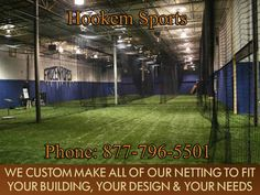 CUSTOM NETTING- COMMERCIAL PITCHING MACHINES - SPORTS TURF ARTIFICIAL TURF