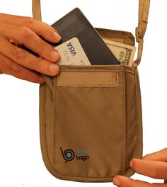 Neck Stash Pouch: 2 in 1 - Double Functionality as Belt Undercover pouch with RFID Blocking System