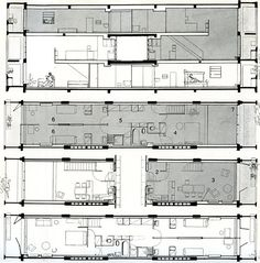 Organización del módulo característico de la Unité de Habitation de Le Corbusier http://www.garciabarba.com/islasterritorio/edificios-residenciales/
