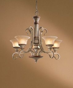 538-59 - Brushed Gold 5 Lt. Tangiers Chandelier