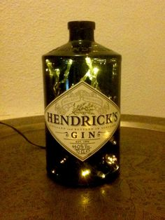 Hendrick's bottle lamp.  Genius #05 by MafReino