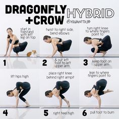 """Jib Aksorndee (@yogawithjib) on Instagram: """"#howtoyogawithjib This fun #armbalance combines #crowpose and #dragonflypose together. It also…"""""""