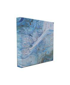 #fluidpour #fluidpainting - Blue Fluid Acrylic Abstract Painting - Original Art - Fluid Painting - Blue Abstract Painting - Fluid Pour Painting - Blue Painting by ColorFlowArt on Etsy