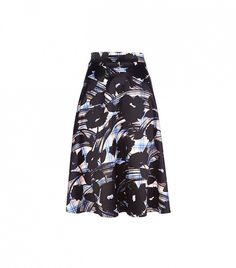 River Island Blue Check Floral Print Midi Skirt // The combination of plaid and bold florals makes this an eye-catching piece.