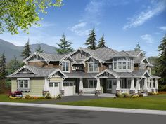 Craftsman-  Beautiful!  Love the porch and that the garage isn't the main focus of the front.