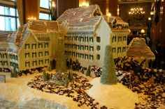 The Inn on #Biltmore Estate gets the gingerbread treatment for #Christmas 2013. www.biltmore.com #holiday