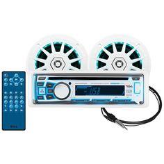 "Boss Audio Combo Kit w/MR762BRGB Receiver, One Pair 6.5"" Marine MRGB65 Speakers & MRANT10"