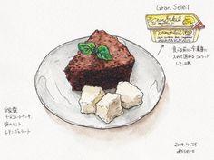 昨日のおやつ Sweets, Illustration, Desserts, Tailgate Desserts, Deserts, Gummi Candy, Candy, Goodies, Postres