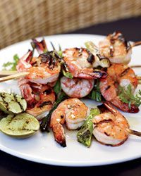 Grilled Miso Shrimp | When grilling shrimp or scallops, use sticks of lemongrass or sprigs of rosemary as an alternative to metal or bamboo skewers.