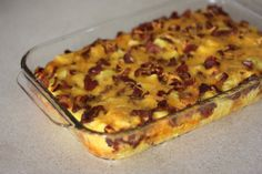 Bacon Egg and Cheese breakfast casserole (make the night before)