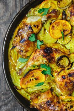 Mediterranean Roast Chicken with Turmeric & Fennel   <    An easy one-pan roast chicken dinner   /   tmd
