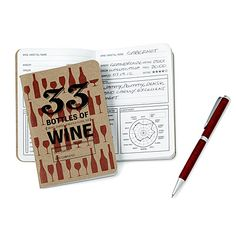Don't keep your inner sommelier all bottled up! Pair this petite and practical wine diary and pen with any bottle, glass, goblet, or flute to drink in every last detail long after you've finished the final drop.