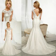 trumpet style wedding dress with lace - Google Search