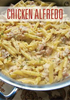 One pot Chicken Alfredo recipe. Whip this up in just 30 minutes!