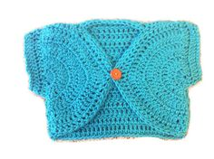 crochet sweater girls shrug sizes newborn baby, 2t, 3t, 4t, 5t, S, M and L by SweetHomeBoutique on Etsy https://www.etsy.com/listing/108973270/crochet-sweater-girls-shrug-sizes