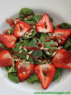 Strawberry and Spinach Salad Strawberry Vinaigrette  Dressing