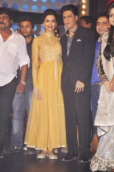 Deepika Padukone looked flawless in an elegant PANKAJ & NIDHI anarkali on the TV show Madhubala while promoting her forth coming movie Chennai Express. Shop Now: www.kimaya.in