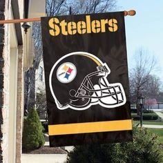 Pittsburgh Steelers Applique House Flag