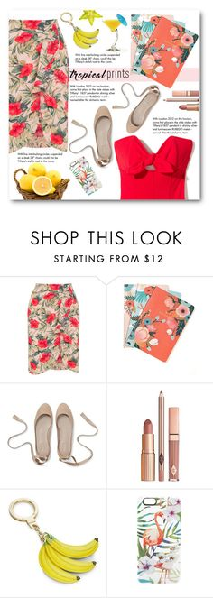 """""""Tropical"""" by pankh ❤ liked on Polyvore featuring Oasis, Chronicle Books, Tiffany & Co., Dolce Vita, Kate Spade, Casetify, tropicalprints and hottropics"""