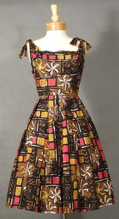 Alfred Shaheen Sun Dress w/ Tie Shoulders. I have another one with a different pattern as well.....