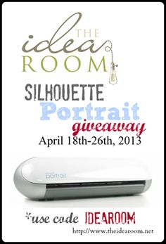 Silhouette portrait giveaway at The Idea Room