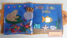 A lagoa dos Sapos e o Fundo do Mar Atividades sensoriais para bebes  Curta nossa página no facebook:  https://www.facebook.com/RetalhoeAmor Entre em contato através do e-mail: retalhoamor@yahoo.com.br