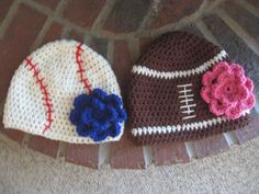 perfect for any little daddys girl :) -the blue flower on the baseball beanie is perfect for the Texas Rangers!!! :D