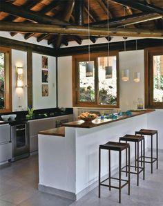 my future beach kitchen Kitchen Room Design, Home Decor Kitchen, Interior Design Kitchen, Home Kitchens, Indian Home Design, Indian Home Decor, Village House Design, Sweet Home, Bamboo House