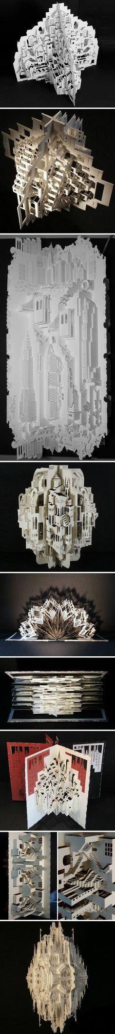 amazing paper cut building modles