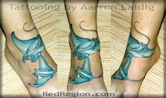 Manta rays tattoo on a foot Arrow Tattoos, Tatoos, Bug Tattoo, Tattoo Art, Manta Ray Tattoos, Stingray Tattoo, Tattoo Portfolio, Henna Art, Tattoo Images