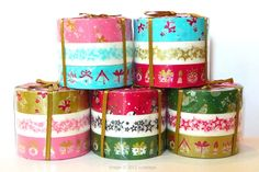 Christmas Washi Tape V2 with cute snowman, stars, and presents pattern. Great for paper craft projects and holiday gift wrapping / packaging.Set of 3 / rolleach roll is 15mmx15mmade in Japan $9.00