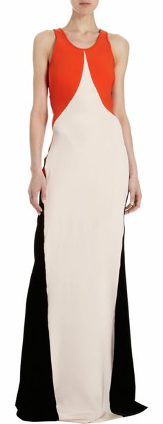 Red Colorblock Tank Gown Stretch blend floor length tank gown with silk blush panel and black velvet back placket to bottom trim. Hidden back zip closure. Glamour, Tank Dress, Playing Dress Up, Dress To Impress, Color Blocking, Stella Mccartney, Ideias Fashion, Style Me, Style Inspiration