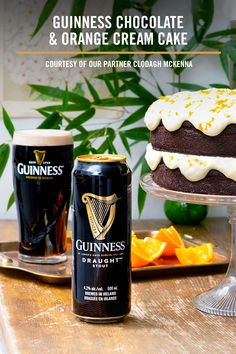 Fancy a dessert? Check out our partner Clodagh McKenna's recipe for Guinness Chocolate & Orange Cream cake. Delicious Cake Recipes, Sweets Recipes, Raw Food Recipes, Yummy Cakes, Christmas Desserts, Christmas Baking, Guinness Recipes, Cake Pops, Guinness Chocolate