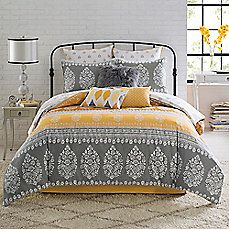 Anthology® Amaya Reversible Comforter Set - Bath Bed & Beyond - Yellow and Grey