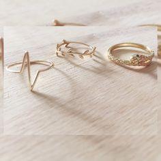 Nuevos anillos de plata de ley bañados en oro. ✨ www.koketta.es