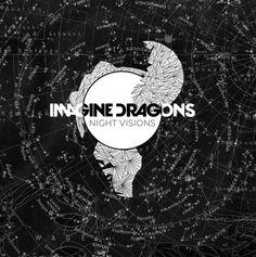 """Album fanart I made for Imagine Dragon's """"Night Visions"""" merrittbecknelldesign.tumblr.com"""