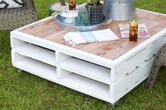 Pallet coffee table - Unique Pallet Outdoor Furniture Ideas - Pallet Idea