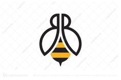 Logo for sale: Letter B B Bee Logo by morabira, uploaded on Unique bee logo built of double B. The symbol itself will looks nice as social media avatar and website or mobile icon