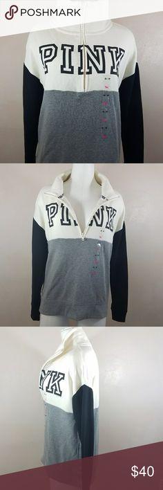 Pink VS half zip sweater XS Bnwt  Feel free to make reasonable offer PINK Sweaters