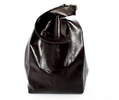 Brown leather tote bag, JUD hand made, soft leather,student,sack,unisex,high fashion,large bag