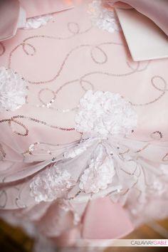 Cake table linen for Blake & Holly's wedding - Callaway Gable Photography