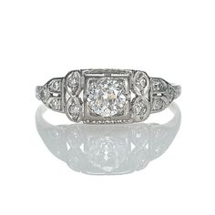 Leigh Jay Nacht Inc. - Art Deco Engagement Ring - VR503-22
