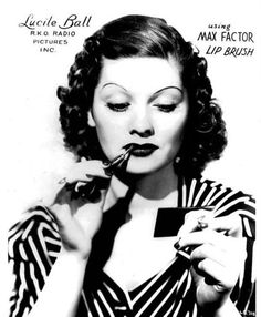 Lucille Ball for Max Factor c. 1930's *Ive pinned versions of this before, but here is the full ad!*