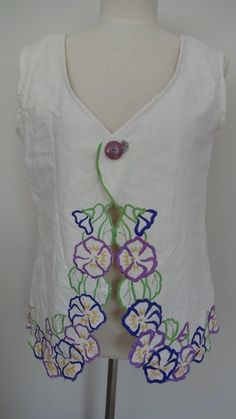 Embroidered Table Cloth Top