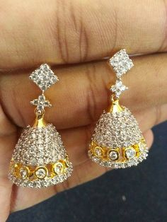 """""""Fashion earrings"""" <3 <3 Code: fae 326 Price:1990/- For booking and further details pls call or whatsapp us at +919600639563. Happy shopping y'all :) Be Beautiful :)"""